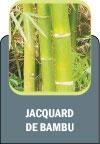 Durabilidade do Jacquard com as propriedades anti-bactericidas naturais do bambu.