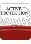 Fibra do Matelasse com Active Protection. Ação bactericida eficiente que elimina de forma permanente bactérias responsáveis pela transmissão de alérgenos. Durante toda a vida útil do produto